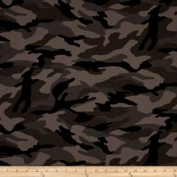 Kaufman Camo Cotton Printed Ripstop Charcoal Fabric