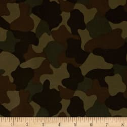 Kaufman 6.35 oz Camo Cotton Printed Twill Olive