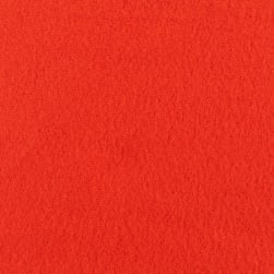 Double Brushed Solid Fleece Orange Fabric