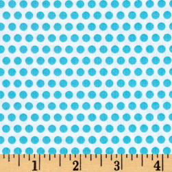 Uppercase Dotty Turquoise Fabric