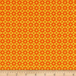Uppercase Ice Floral Orange Fabric