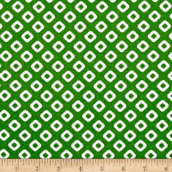 Dixie Diamonds Green Fabric