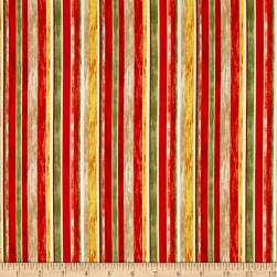 Rainforest Stripe Red Fabric