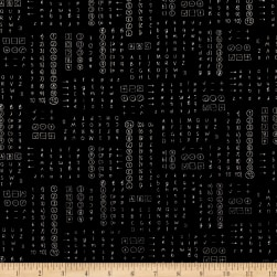 Sew Hope Full Letters and Numbers Black Fabric