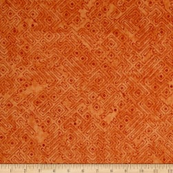 Native Spirit Tribal Blender Terracotta Fabric