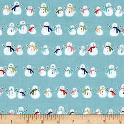 Riley Blake Cozy Christmas Snowmen Blue