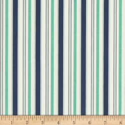 Riley Blake Cozy Christmas Stripe Navy Fabric