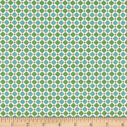 Riley Blake Cozy Christmas Square Green Fabric