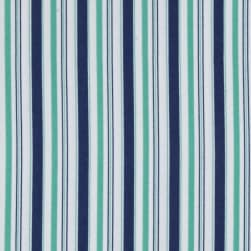 Riley Blake Cozy Christmas Flannel Stripe Blue Fabric