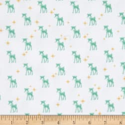 Riley Blake Cozy Christmas Flannel Reindeer White Fabric