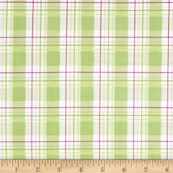 Tanya Whelan Zoey's Garden Faux Plaid Green Fabric