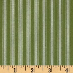 Newport Flannel Ticking Stripe Green