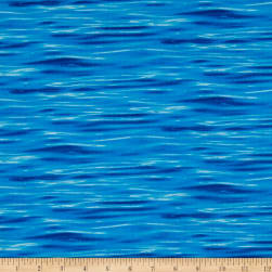 Landscape Medley Water Deep Blue Fabric