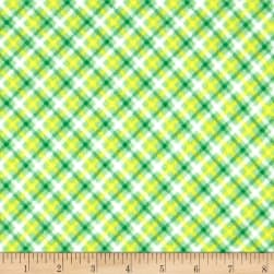 Zoo Mates Flannel Plaid Green