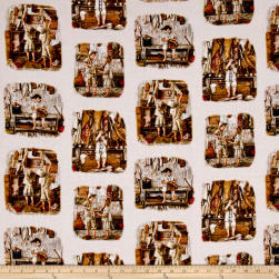 Play Ball Patchwork Sepia Fabric