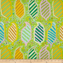 Kaffe Fassett Striped Heraldic Green Fabric