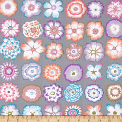 Kaffe Fassett Button Flowers Grey