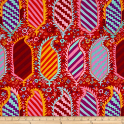 Kaffe Fassett Striped Heraldic Red