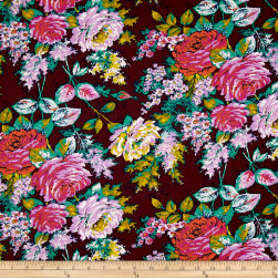 Jennifer Paganelli Color Brigade Rachel Maroon Fabric