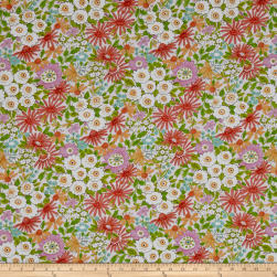 Meadow Morning Glory Coral Fabric