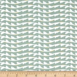 Fairmount Park Metallic Flourish Stripe Seafoam