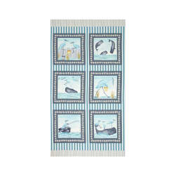 Barnacle Bay 23 In. Panel Aqua Fabric