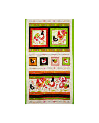 Pecking Order Rooster Picture Patch 23 In. Panel