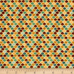 QT Fabrics Arabesque Tonal Geometric Tan Fabric