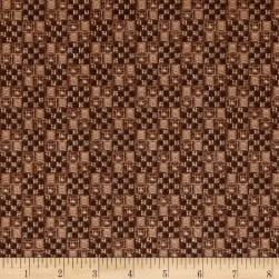 QT Fabrics Into The Woods Woven Texture Brown