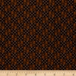 Into The Woods Woven Texture Brown Black Fabric