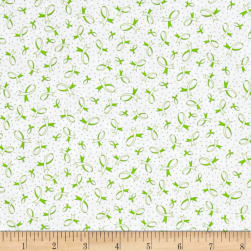 Ribbons Of Hope Ribbons Green Fabric