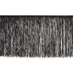 "12"" Chainette Fringe Trim Black"