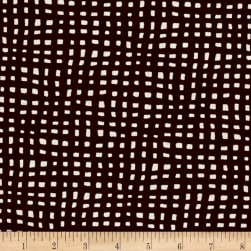 Contempo Twilight Netting Chocolate Fabric
