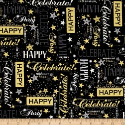 Kanvas Celebration Metallic Let's Celebrate Black
