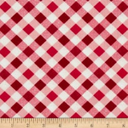 Kanvas Apple Blossom Festival Picnic Plaid Red Fabric