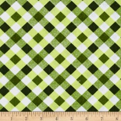 Kanvas Apple Blossom Festival Picnic Plaid Green Fabric