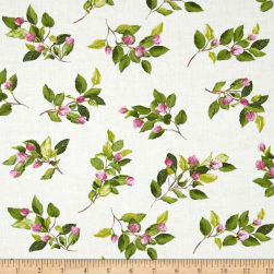Kanvas Apple Blossom Festival Apple Buds Cream Fabric