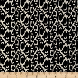 Stretch ITY Jersey Knit Chain Black/Cream Fabric