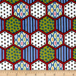 Minky Hexagon Red Fabric