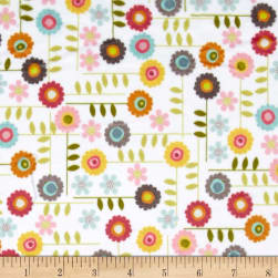 Minky Garden Flowers Multi Fabric