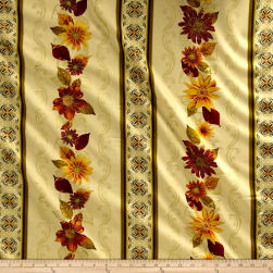 Kanvas Autumn Splendor Metallic Autumn Garland Cream Fabric