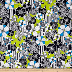 Kanvas Citron Twist Graphic Poppy Multi Fabric