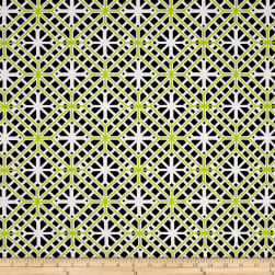Kanvas Citron Twist Geo Trellis Citron Fabric