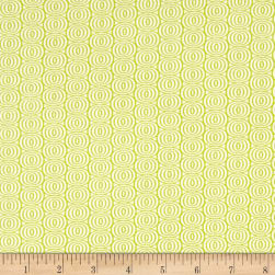 Kanvas Citron Twist Optic Circles Citron Fabric