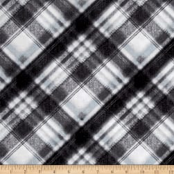 Kanvas Into the Woods Soft Plaid Gray Fabric