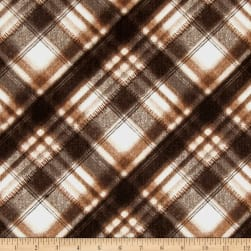 Kanvas Into the Woods Soft Plaid Chocolate Fabric