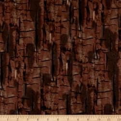 Kanvas Into the Woods Flannel Bark Dark Brown