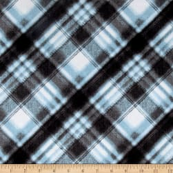 Kanvas Into the Woods Flannel Soft Plaid Blue Mist Fabric
