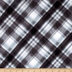 Kanvas Into the Woods Flannel Soft Plaid Gray Fabric
