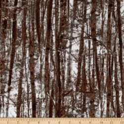 Kanvas Into the Woods Flannel Forest Trees Brown Fabric